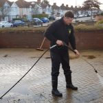 Drive and Patio Cleaning in action by Prestige Bin Cleaning