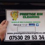 Prestige Bin Cleaning bin sticker