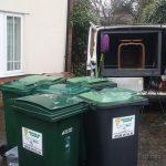 Domestic wheelie bins cleaned by Prestige Bin Services