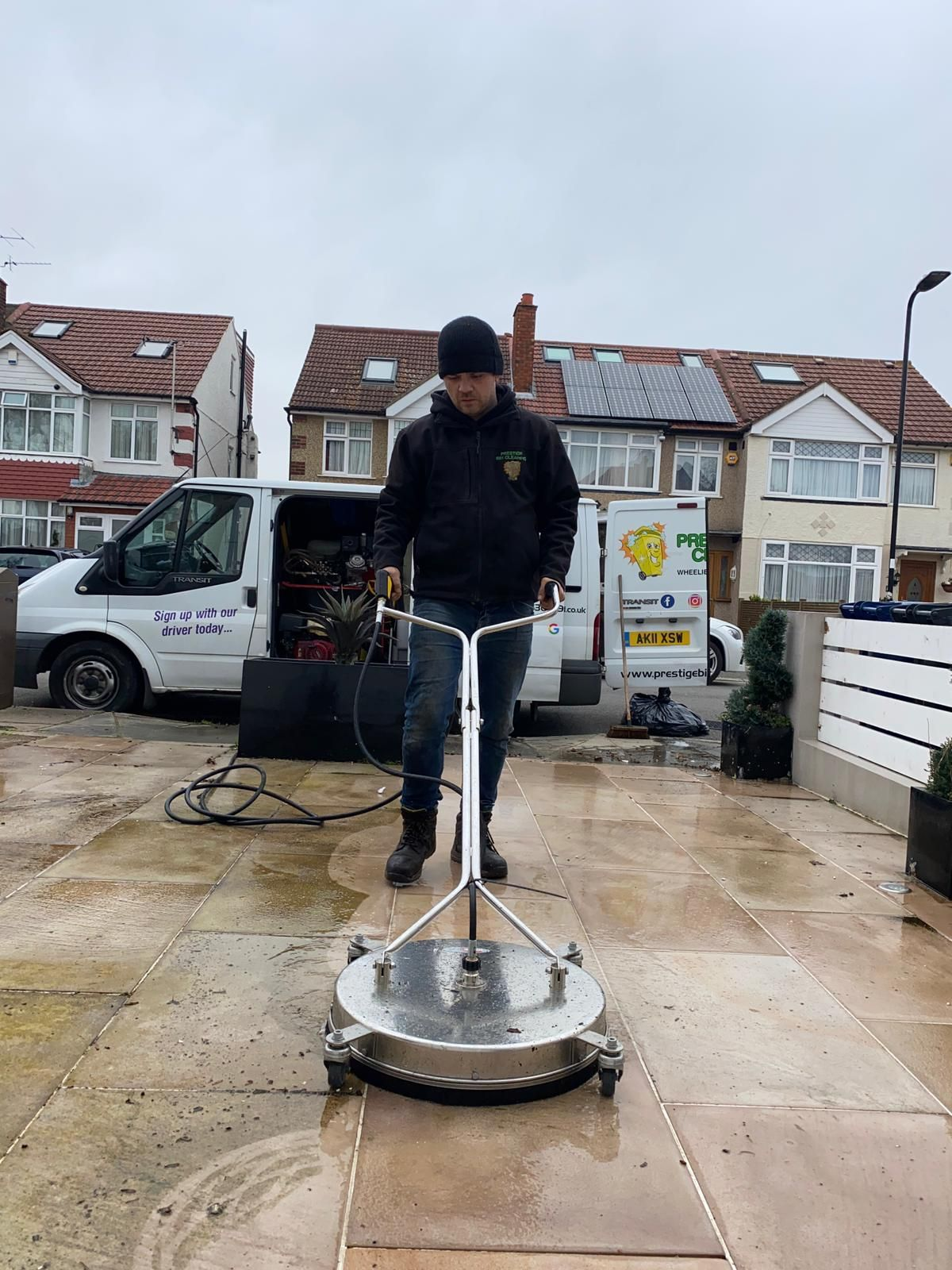 Drive cleaning from Prestige Bin Cleaning