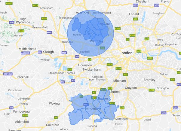Prestige Bin cleaning Area Map